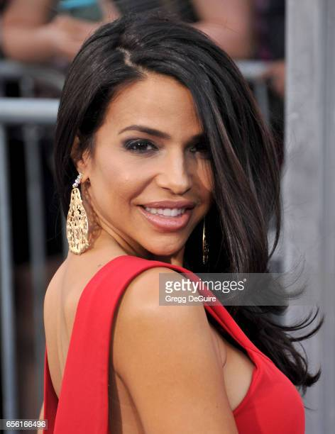 """Vida Guerra arrives at the premiere of Warner Bros. Pictures' """"CHiPS"""" at TCL Chinese Theatre on March 20, 2017 in Hollywood, California."""