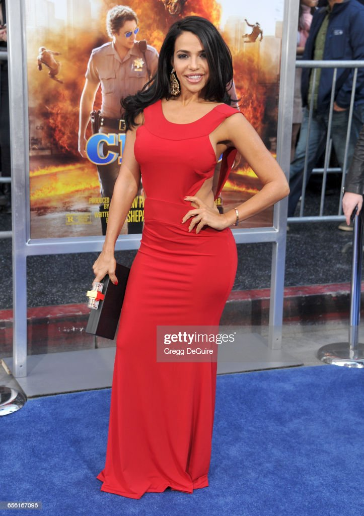 Vida Guerra arrives at the premiere of Warner Bros. Pictures' 'CHiPS' at TCL Chinese Theatre on March 20, 2017 in Hollywood, California.