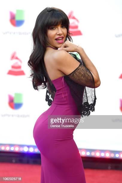 Vida Guerra attends the 19th annual Latin GRAMMY Awards at MGM Grand Garden Arena on November 15, 2018 in Las Vegas, Nevada.