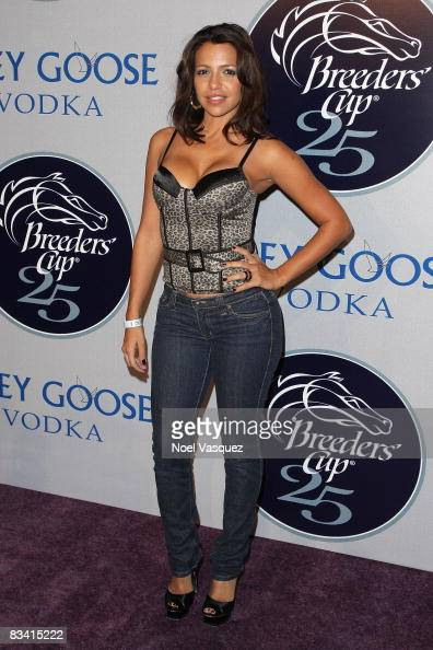 Vida Guerra Attends The 2008 Breeders Cup Winners Circle