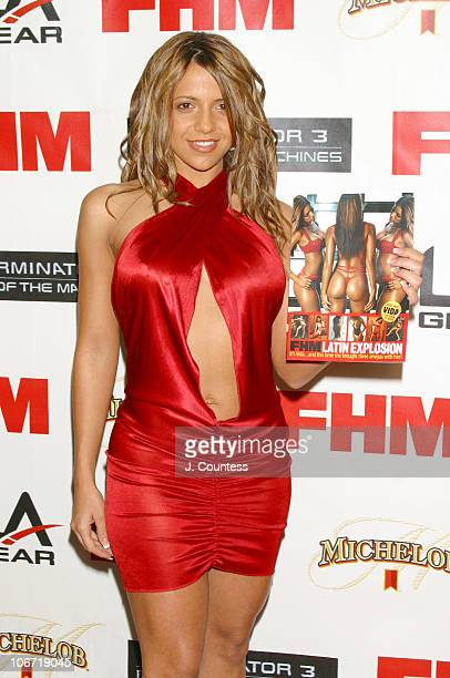 Vida Guerra displays her layout in FHM during Kristanna Loken and FHM Magazine Celebrate Release of Terminator 3 Rise of the Machines DVD at Eugene's...