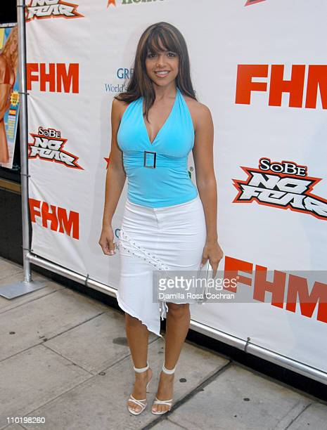 Vida Guerra during FHM Cover Girl Beth Ostrosky Celebrates her Upcoming August Cover at Whiskey Park in New York City New York United States
