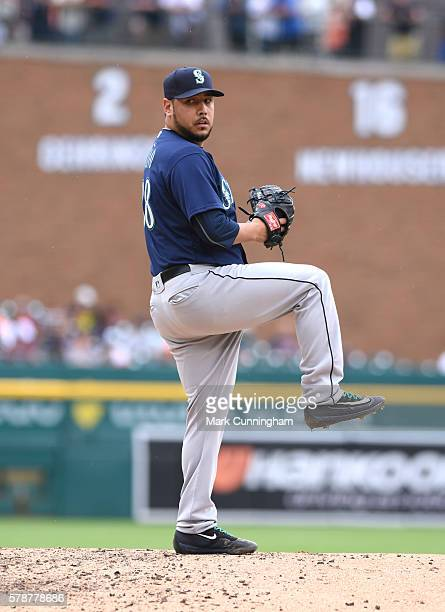 Vidal Nuno of the Seattle Mariners pitches during the game against the Detroit Tigers at Comerica Park on June 23 2016 in Detroit Michigan The Tigers...