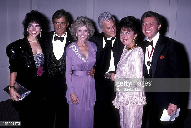 Vidal Sassoon guest Florence Henderson Tony Curtis Eydie Gorme and Steve Lawrence attend Hebrew University Jewish Society Gala on September 18 1986...