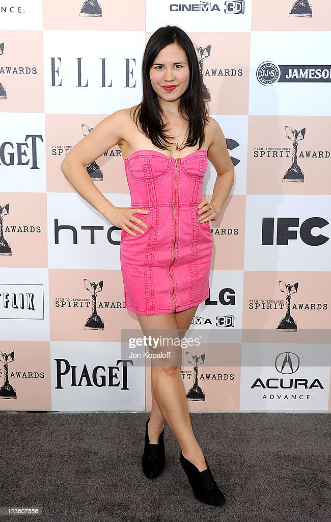Video artist Laurel Nakadate arrives at the 2011 Film Independent Spirit Awards held at Santa Monica Beach on February 26, 2011 in Santa Monica, California.