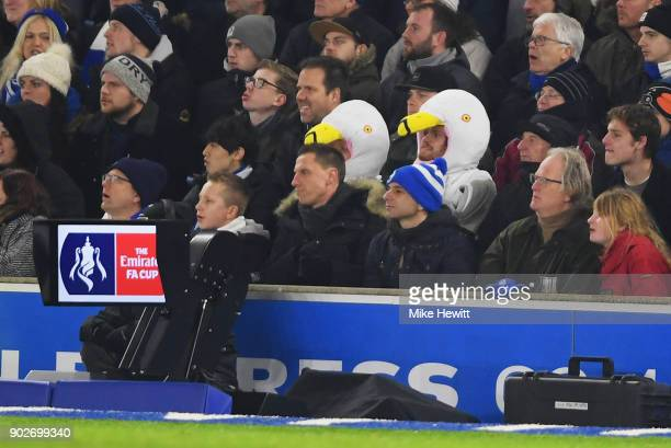 Video Assistant Referee equipment is seen duringThe Emirates FA Cup Third Round match between Brighton Hove Albion and Crystal Palace at Amex Stadium...