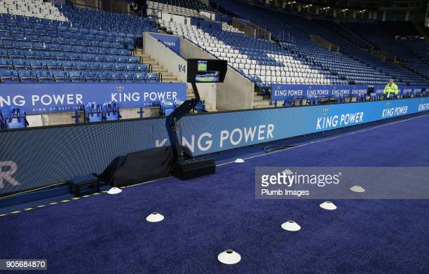Video Assisted Referee at King Power Stadium ahead of The Emirates FA Cup Third Round Replay between Leicester City and Fleetwood Town at King Power...