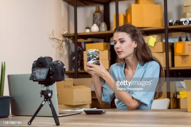 video blog selling online - unboxing stock pictures, royalty-free photos & images