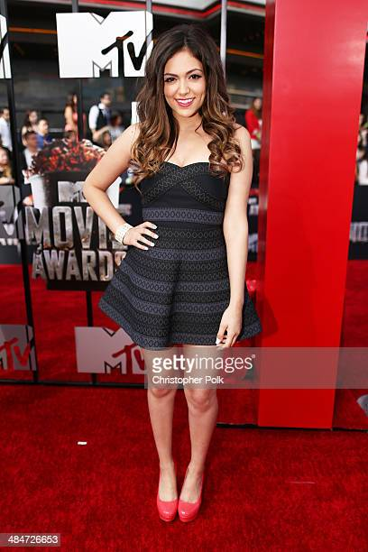 Video blogger Bethany Mota attends the 2014 MTV Movie Awards at Nokia Theatre LA Live on April 13 2014 in Los Angeles California