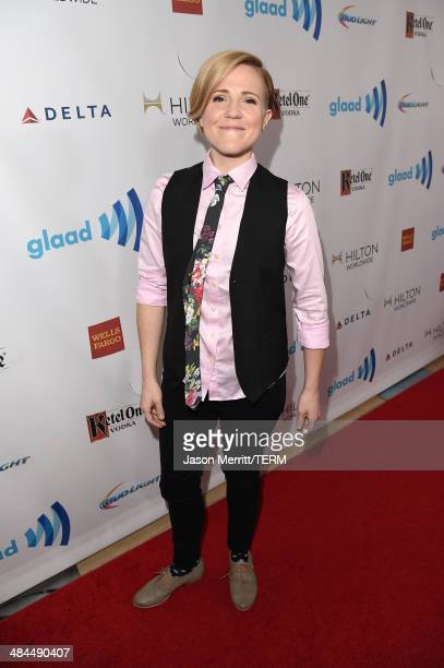 Video blogger Hannah Hart attends the 25th Annual GLAAD Media Awards at The Beverly Hilton Hotel on April 12 2014 in Los Angeles California