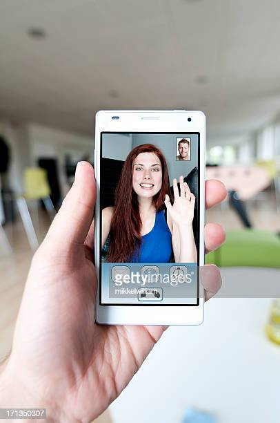 Video call and live stream on a smart phone