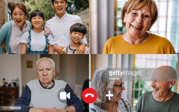 video call with friends and family - taiwan stock pictures, royalty-free photos & images