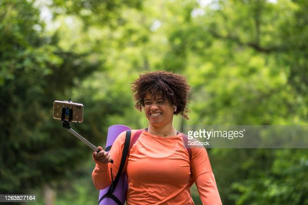 video calling outdoors - sunderland stock pictures, royalty-free photos & images