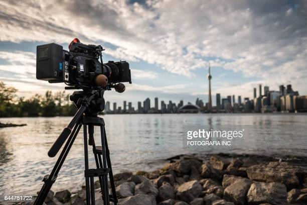 video camera on toronto island - filming stock pictures, royalty-free photos & images
