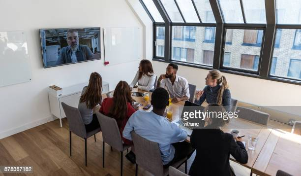 Video conference at the office