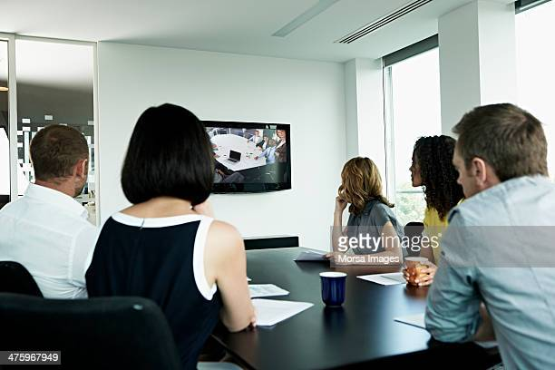 Video conference between 2 groups