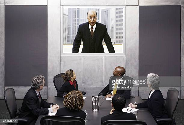 video conference, business meeting - shareholder stock pictures, royalty-free photos & images
