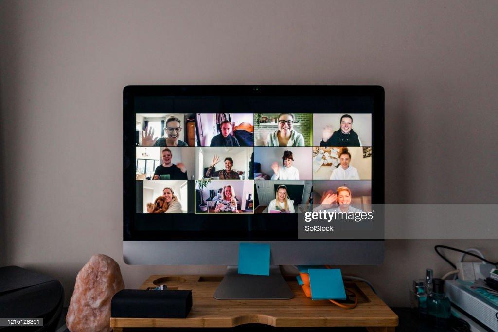 Videoconferentie : Stockfoto