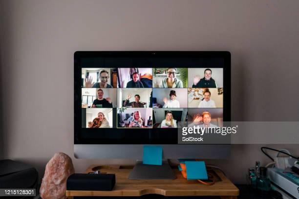 video conference - friendship stock pictures, royalty-free photos & images