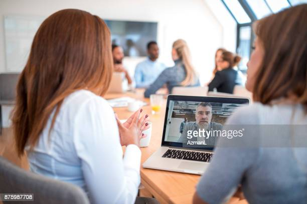 video conference - virtual meeting stock pictures, royalty-free photos & images