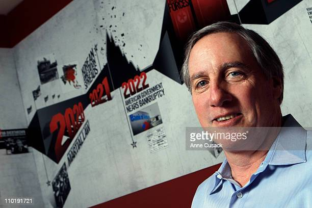 Video game company THQ Chief Executive and screenwriter Brian Farrell Danny Bilson photographed for Los Angeles Times in Agoura Hills California...