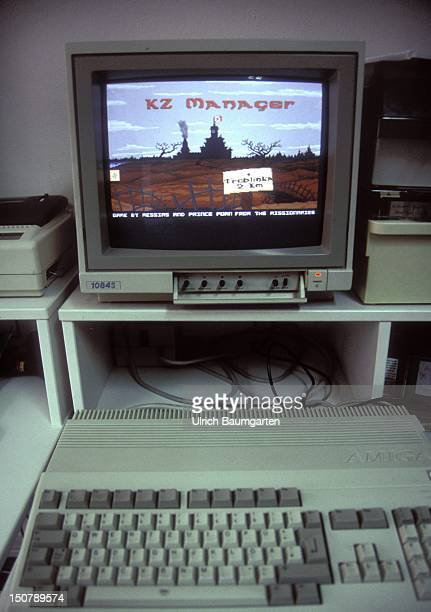 Video game KZ Manager Computer screen showing cartoon of the game