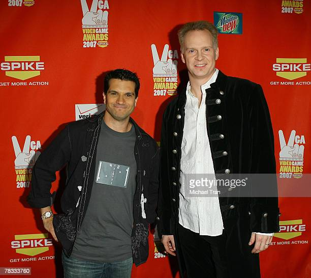 Video Games Live musicians Tommy Tallarico and Jack Wall arrive at Spike TV's 5th Annual Video Game Awards held at Mandalay Bay Events Center on...