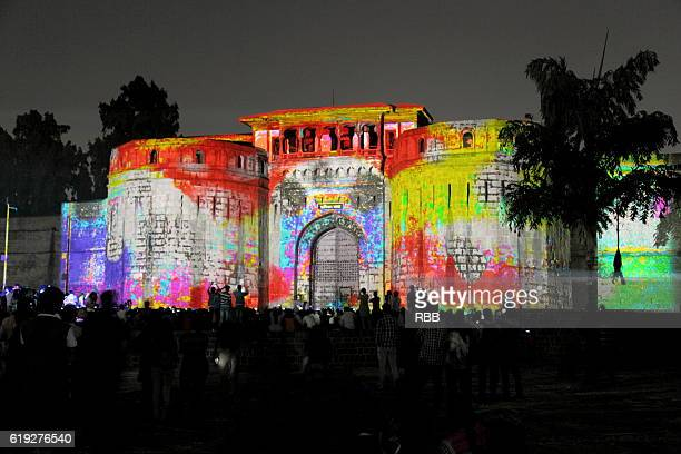 Video Mapping on Shaniwarwada Pune