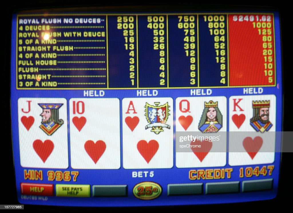 Video Poker Royal Flush High Res Stock Photo Getty Images