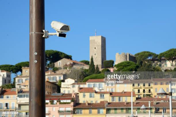 Video Surveillance Security Camera in the Port Area Cannes