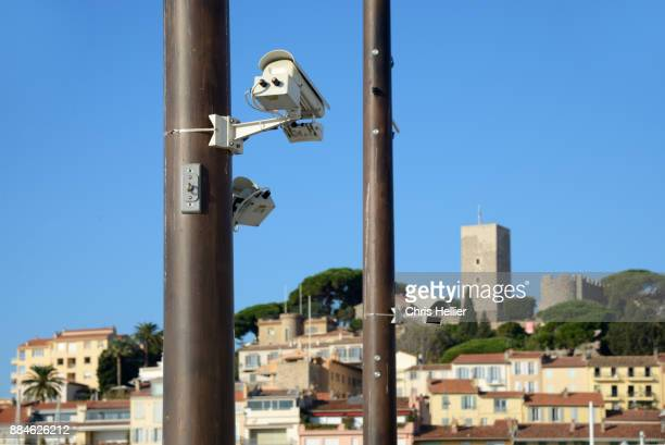 Video Surveillance Security Cameras in the Port Area Cannes