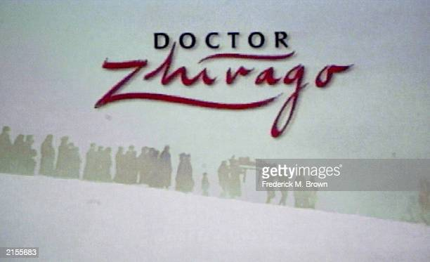A video view of the film Doctor Zhivago appears at the PBS Summer 2003 TCA Press Tour at the Hollywood Renaissance Hotel July 11 2003 in Hollywood...