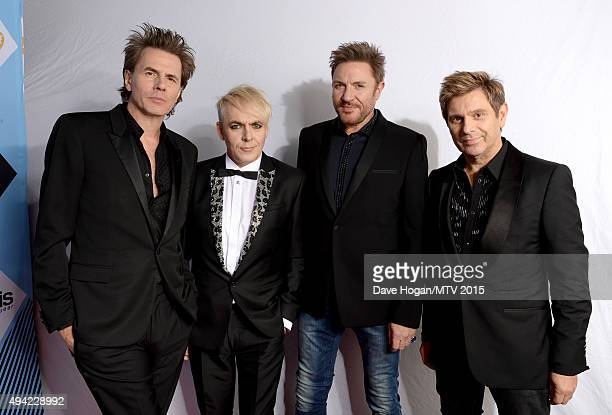 Video Visionary Award recipients John Taylor Nick Rhodes Simon Le Bon and Roger Taylor of Duran Duran pose for a portrait before the MTV EMA's 2015...