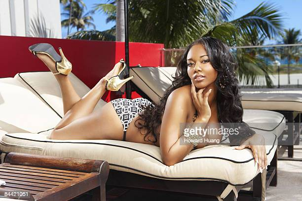 Video vixen Esther Baxter is photographed in Miami for Black Men