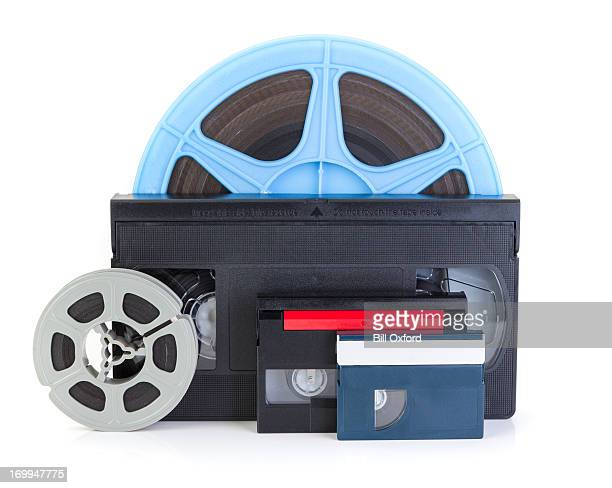 video/dvd transfer - blue film video stock photos and pictures