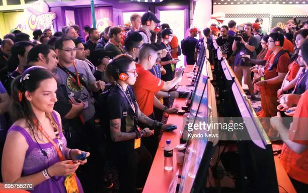 Videogame enthusiasts flock to 'E3' one of the world's biggest game exhibitions in Los Angeles on June 13 2017 Previously open only to people in the...