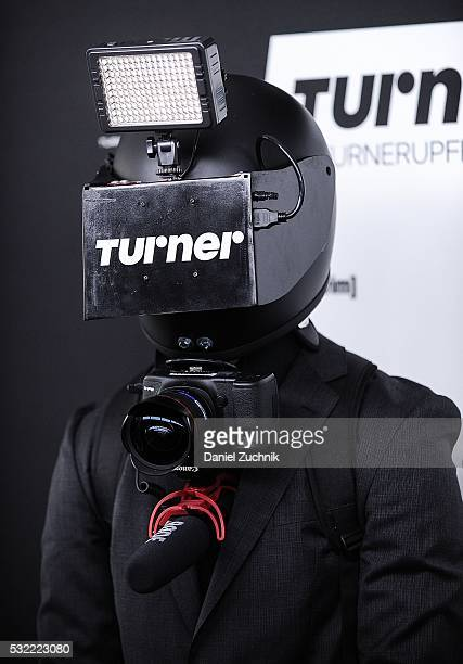 A videographer during the 2016 Turner Upfront at Nick Stef's Steakhouse on May 18 2016 in New York New York