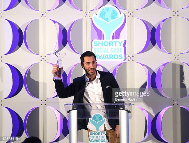 VideoMeals receives a Best Overall Instagram Presence award during the 1st Annual Shorty Social Good Awards at Apella on November 16 2016 in New York...