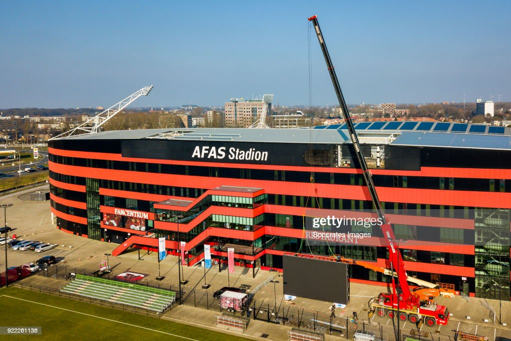 Videowall AZ Alkmaar... : News Photo