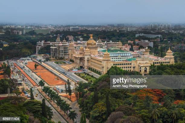vidhana soudha aerial view - bangalore stock pictures, royalty-free photos & images