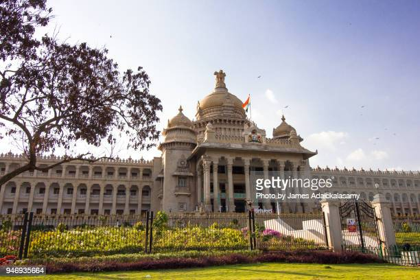 vidhana soudha, bangalore, karnataka, india - karnataka stock pictures, royalty-free photos & images