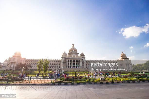 vidhana soudha, bangalore, karnataka, india - karnataka stock pictures, royalty-free photos & images