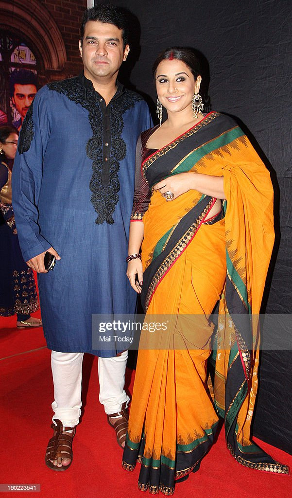 Vidya Balan and her husband Siddharth Roy Kapur, CEO, UTV at the 11th Max Stardust Awards 2013 in Mumbai on Saturday.
