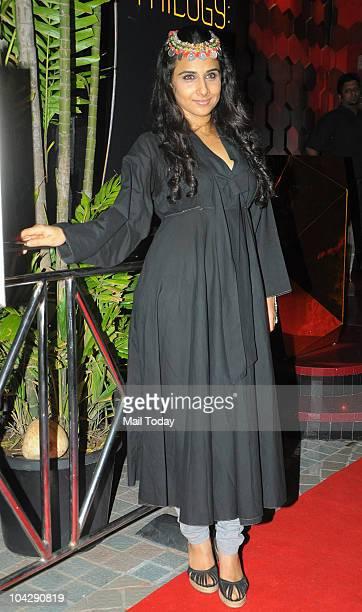 Vidya Balan at actress Shabana Azmi's birthday party in Mumbai on September 18 2010