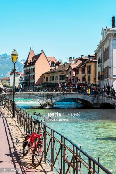 vieille ville (old town) of annecy, france - lake annecy stock photos and pictures