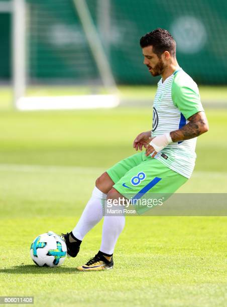 Vieirinha in action during a training session at Volkswagen Arena on July 3 2017 in Wolfsburg Germany
