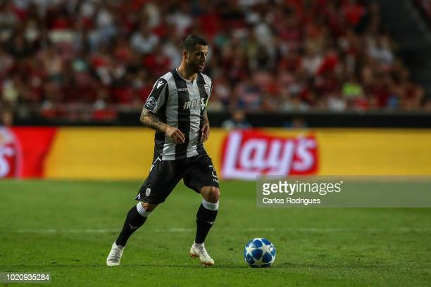 Vieirinha of PAOK during the match between SL Benfica and PAOK for the UEFA Champions League Play Off at Estadio da Luz on August 21 2018 in Lisbon...