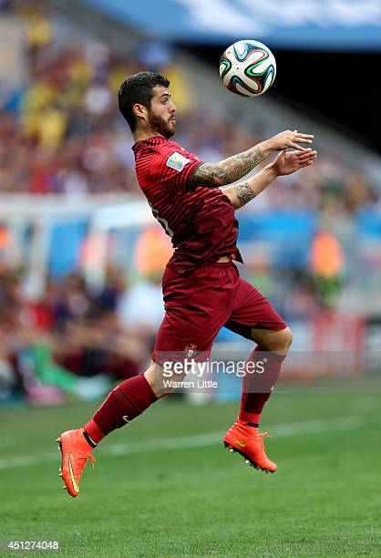 Vieirinha of Portugal controls the ball during the 2014 FIFA World Cup Brazil Group G match between Portugal and Ghana at Estadio Nacional on June 26...