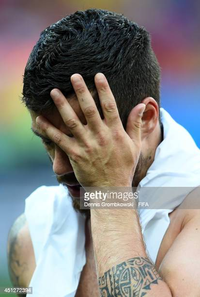 Vieirinha of Portugal shows his dejection after the 2014 FIFA World Cup Brazil Group G match between Portugal and Ghana at Estadio Nacional on June...