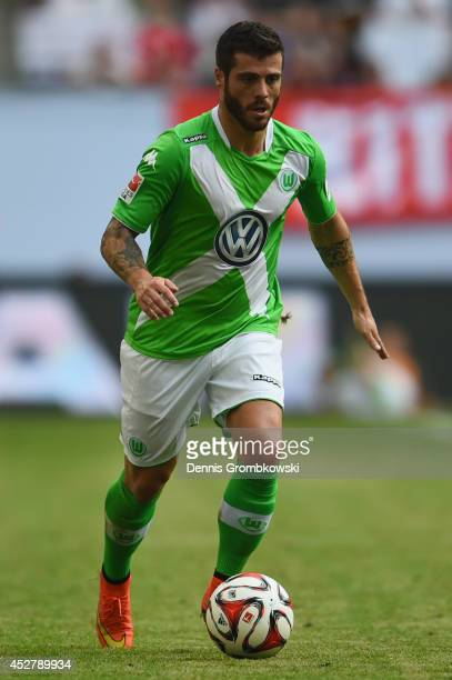 Vieirinha of VfL Wolfsburg controls the ball during the Telekom Cup 2014 final match between FC Bayern Muenchen and VfL Wolfsburg at Imtech Arena on...